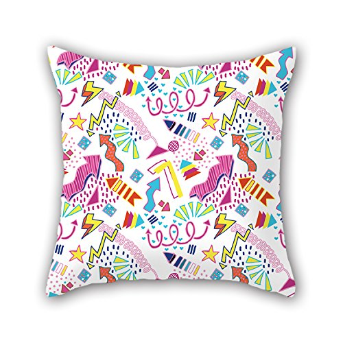 [PILLO Throw Cushion Covers Of Geometry 18 X 18 Inches / 45 By 45 Cm,best Fit For Office,kids Girls,bar,saloon,study Room,girls Two] (Road Cone Costume)