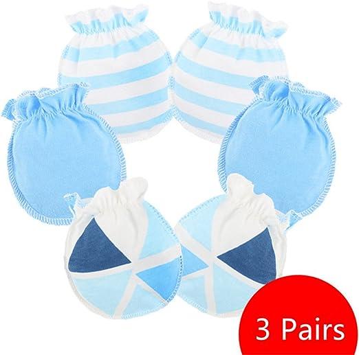 Affe 3 Paare Baby M/ädchen Junge Handschuhe Neugeborene No Scratch F/äustlinge Kratzhandschuhe