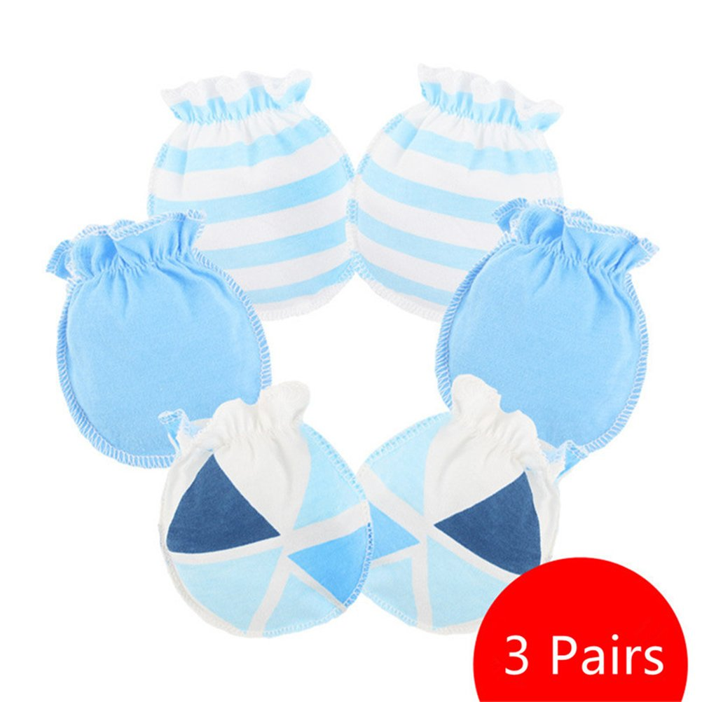 Affe 3 Pairs/Lot Baby Girl Boy Gloves Newborn Scratch Mittens ZGJ