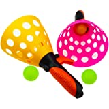 ZICA Outdoor Launch & Catch Ball Game Toy Set One Pair with Three Ball for Kids