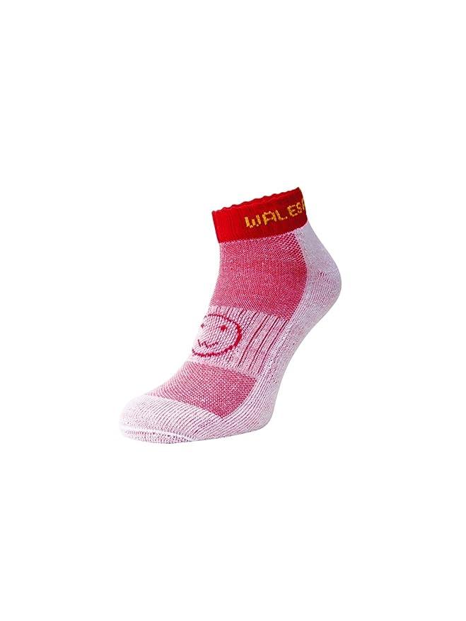 Wacky Sox Trois paires d/égriff/és blanc et de chaussettes de sport de veau rose