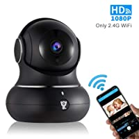 1080P Indoor Wireless WiFi Home IP Security Camera - Littlelf Panoramic Pet Camera, Baby Monitor with 2-Way Audio, Night Vision, Remote Monitor with iOS & Android App, Micro SD Card or Cloud Storage
