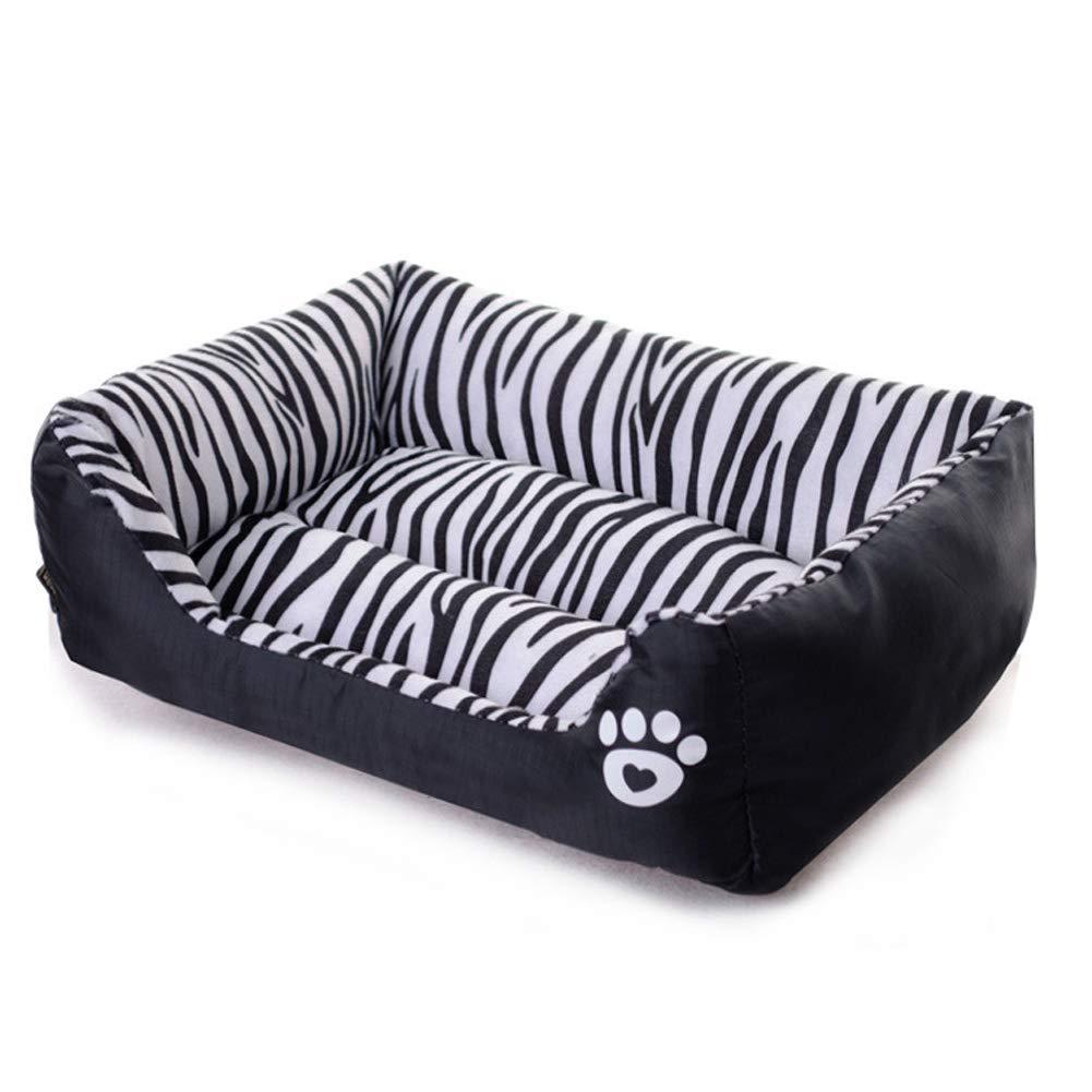 Black 584514cm Black 584514cm Pet Bed, Waterproof cat Litter Dog Bed in Autumn and Winter, Sofa Cushion,Black,58  45  14cm