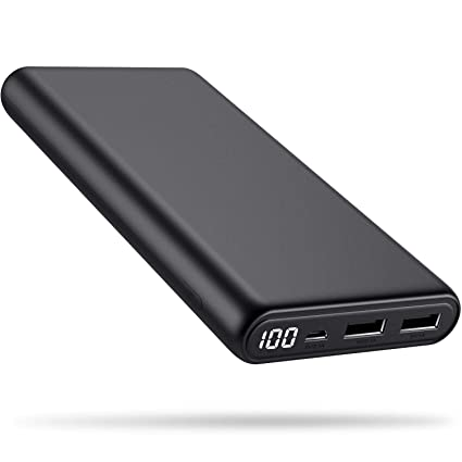 Amazon.com: Cargador portátil de alta capacidad de 24800 mAh ...