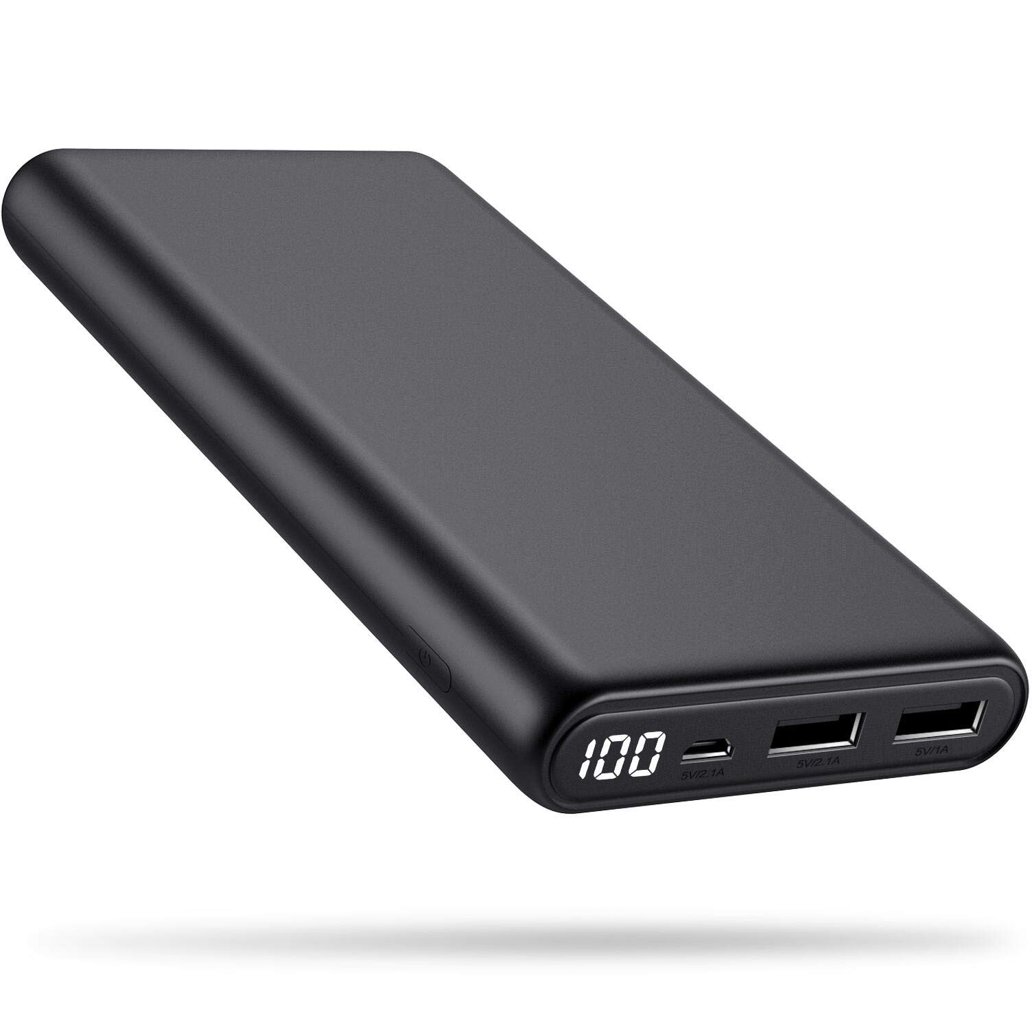 Portable Charger 24800mAh High Capacity Power Bank Enhanced External Battery Packs Charger Dual Output with LCD Digital Display Charging Portable Phone Charger for Smartphone, Android,Tablet and More