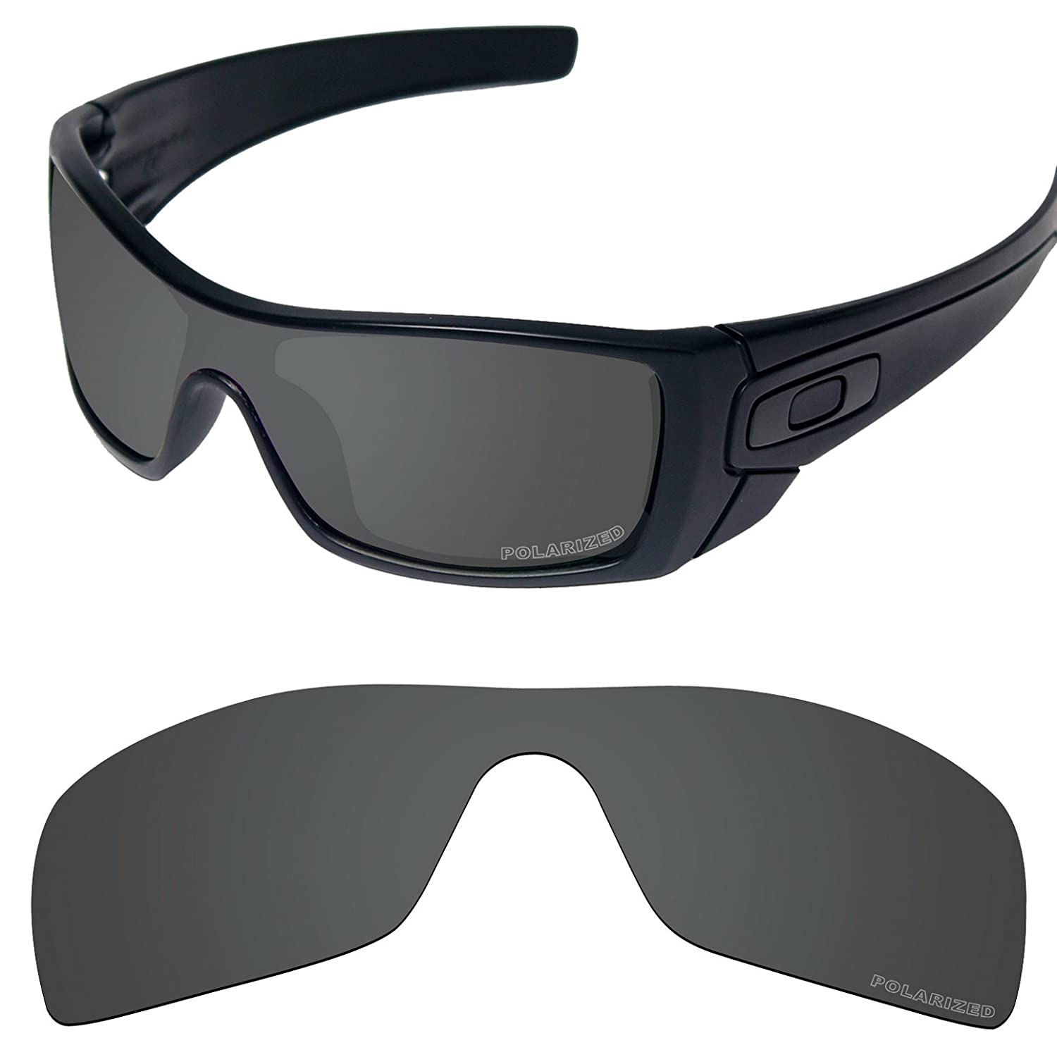 b1eb232791523 Amazon.com  Tintart Performance Lenses Compatible with Oakley Batwolf  Polarized Etched-Carbon Black  Clothing