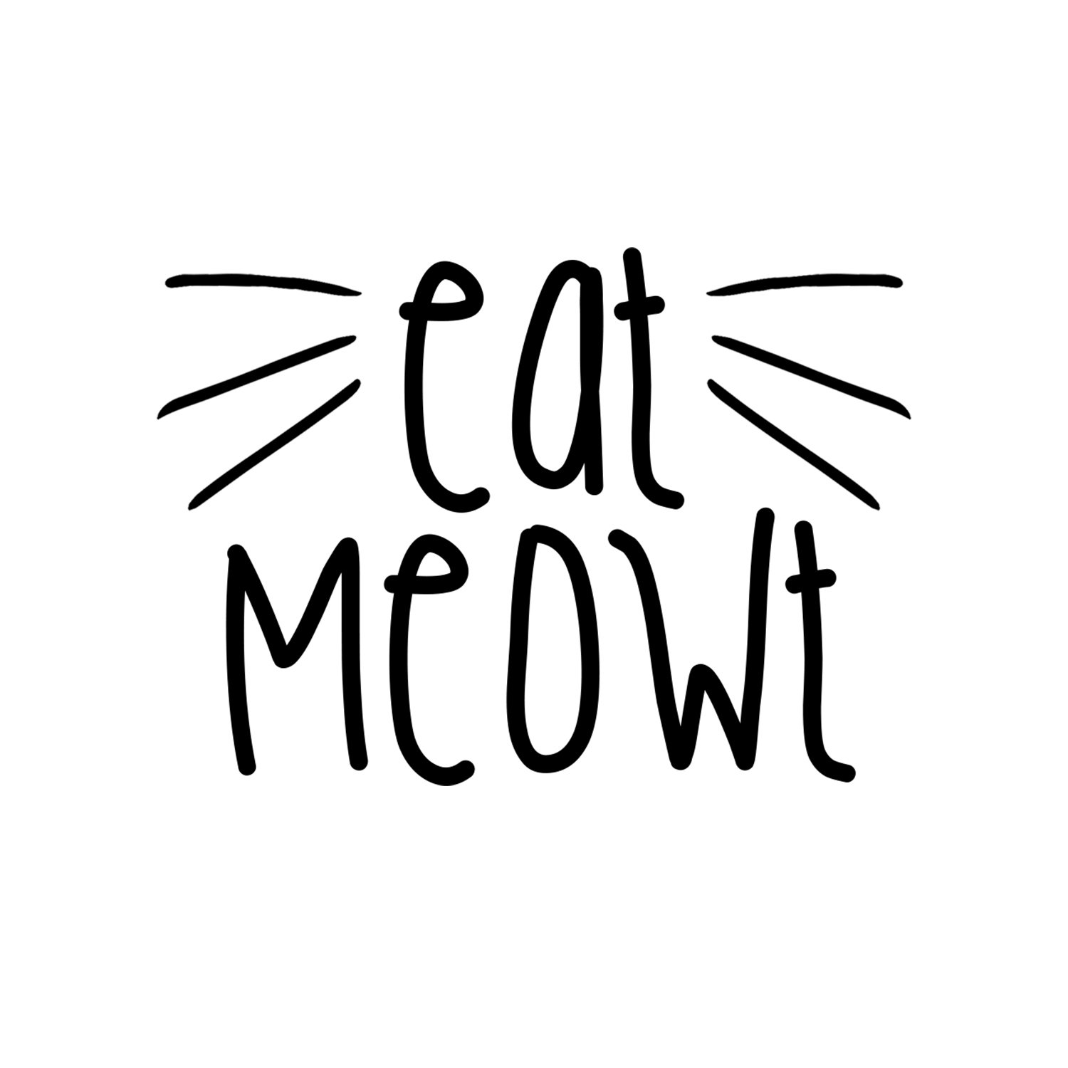 Decal Serpent Eat Meowt Whiskers Funny Womens Cotton Thong Bikini