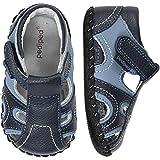 Baby : pediped Brody Originals Fisherman Sandal (Infant/Toddler),Navy/Light Blue,Medium (12-18 Months)