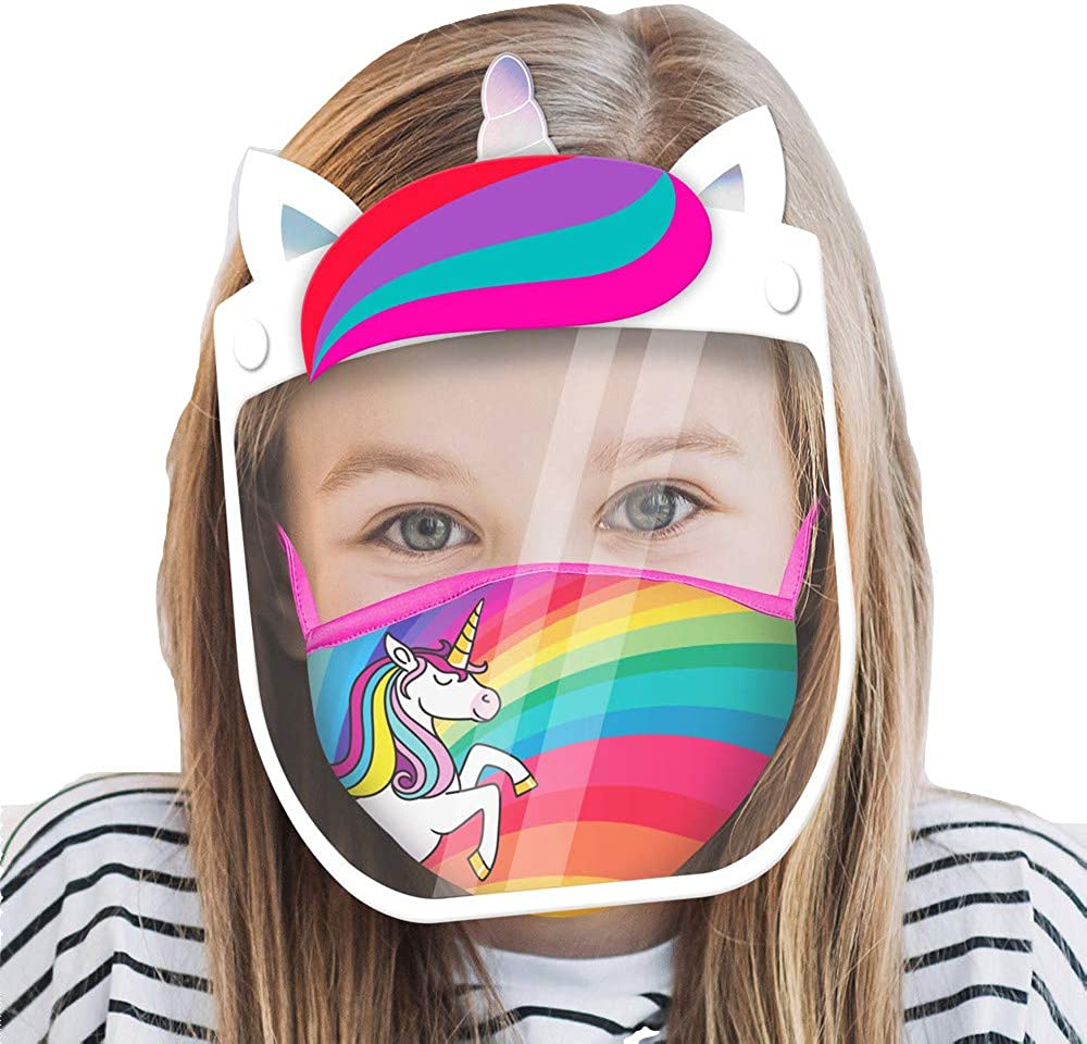 ABG Accessories Kids Face Shield with Matching Little Girls Reusable...