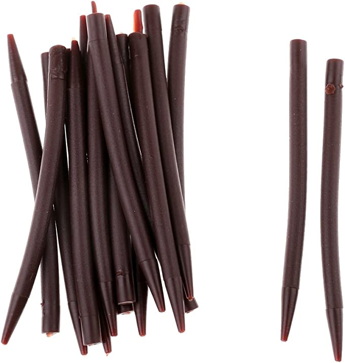 20 Stück Angeln Anti  Ärmel aus Silikon Gummischläuche