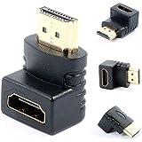 Adaptador Plug HDMI Macho para HDMI Fêmea em L 90 Graus