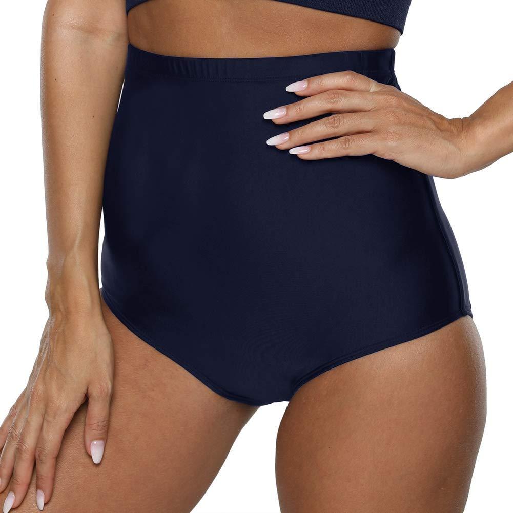 Swimsuit Bikini Brief Firpearl Womens Swim Bottom Ultra High Waisted UPF50