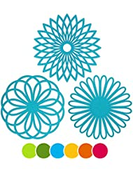 FAN 3 Set Silicone Multi Use Flower Trivet Mat   Premium Quality Insulated