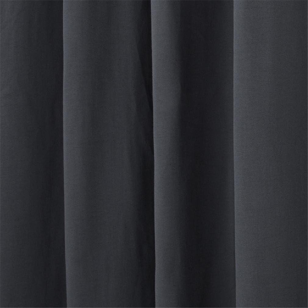 Set de 2 pi/èces Gris//Noir LAZA-MLL Paire doccultations Thermiques Paire de Rideaux Anti-acariens Isolation Thermique et r/éduction du Bruit Grey 140 * 160cm