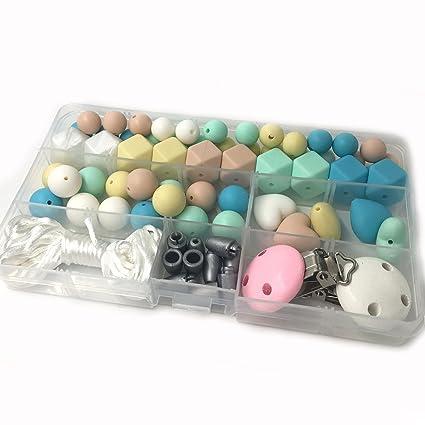 Coskiss DIY Kit de collar de enfermería mezcla de geometría de color ...