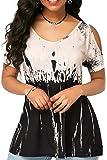 Landove T Shirt Spalle Scoperte Bluse e Camicie Estive Donna Camicetta Manica Corta Casual Top Scollo a Barca Tinta Unita