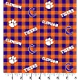 Clemson Cotton Fabric Buffalo Plaid Design-Newest Pattern-Sold by The Yard-SYKEL