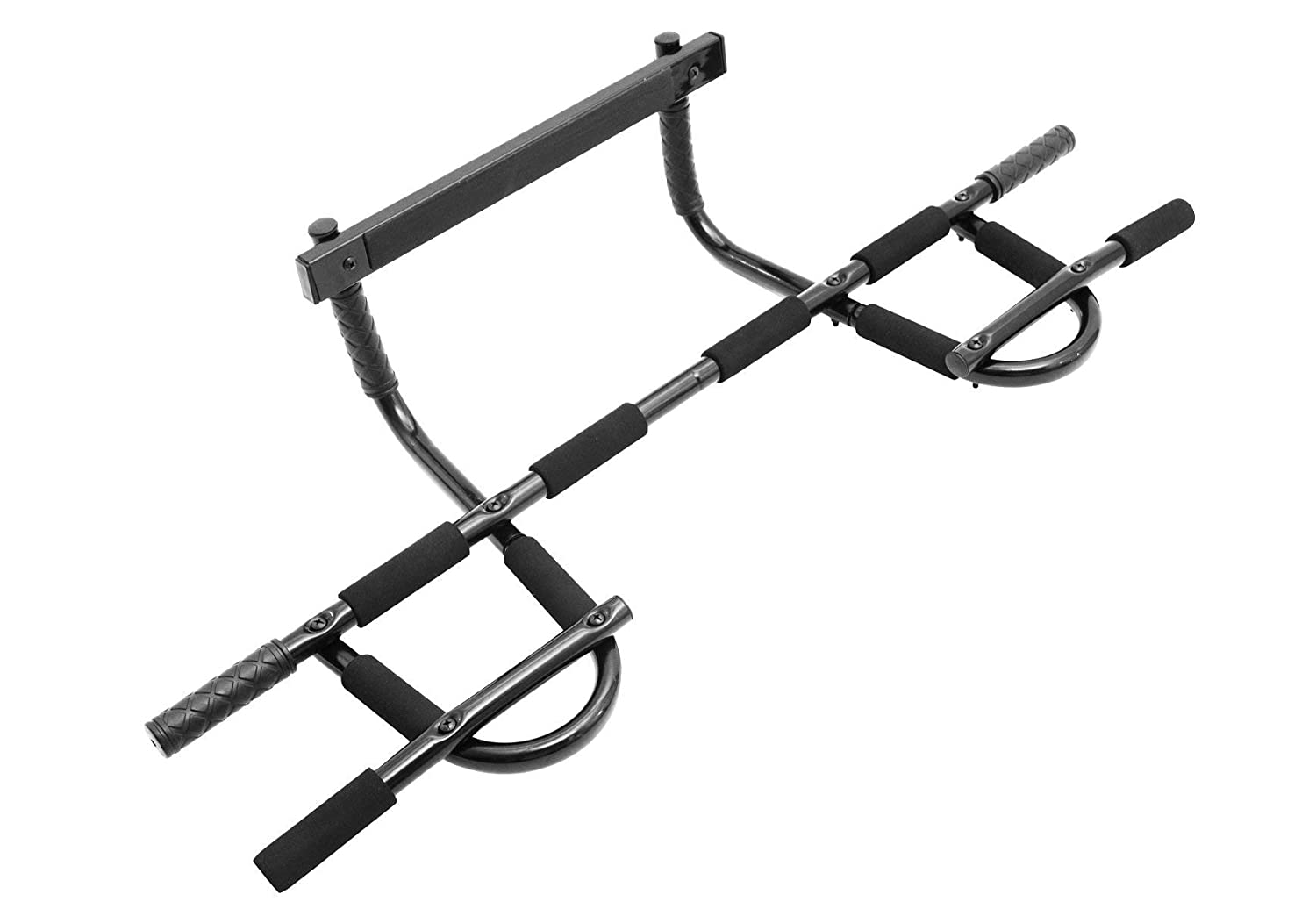 ProSource Multi-Grip Chin-Up Pull-Up Bar, Heavy Duty Doorway Trainer for Home Gym Renewed