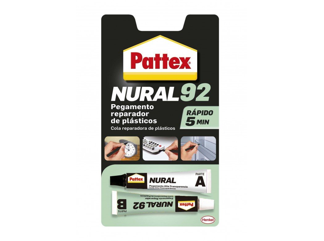 Henkel - Adhesivo Translucido Para Plastico 22Ml Nural-92 1671587 Pattex