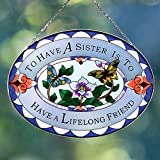 Bits and Pieces - Majestic Sister Suncatcher - Beautifully Painted Art Glass Suncatcher