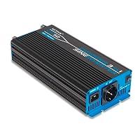 ECTIVE 500W 12V zu 230V CSI-Serie reiner Sinus Wechselrichter mit Batterie Ladegerät und NVS in 7 Varianten: 300W - 3000W