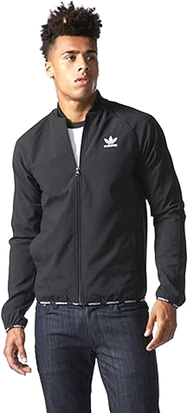 Adidas Mens Originals Track Jacket - Black/White (X-Large ...