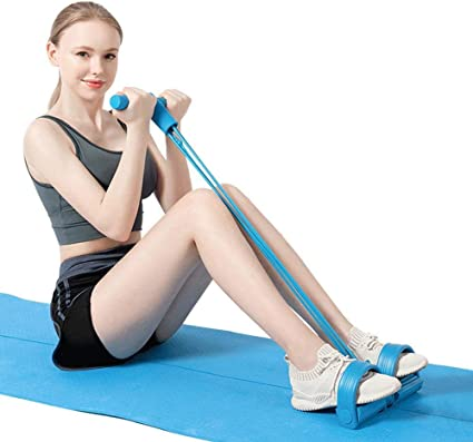 Resistance Bands Sit-up Exercise Loop Yoga 5 Set  Home Fitness /& Skipping Ropes