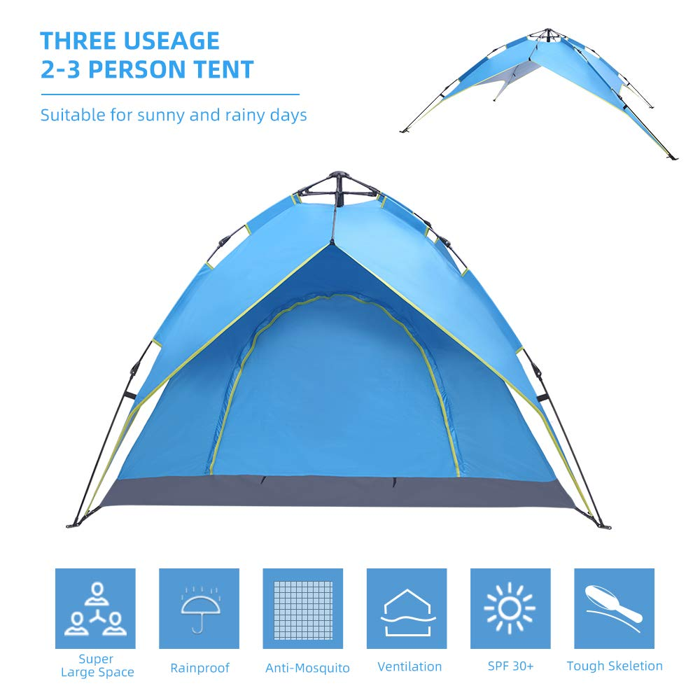 Automatic Instant Pop Up Tent Army Green Double Layers UV Protection Waterproof Dome Tent for Outdoor Sports Yachee 2 3 4 Person Camping Tent