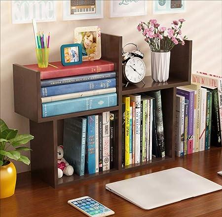 Pequeña Estantería Mesa Simple Mini Estante Simple Moderno Estudiante Librería Niños Escritorio Mesa De Comedor Almacenamiento,Blackwalnut: Amazon.es: Hogar