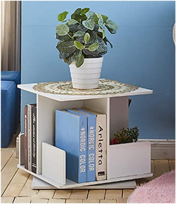 SJWR Libreria libreria Girevole Creative Giradischi a 360 /° mensola Moderna Semplice Angolo per Bambini Angolo Tavolo da Gioco atterrato,Fourfloors