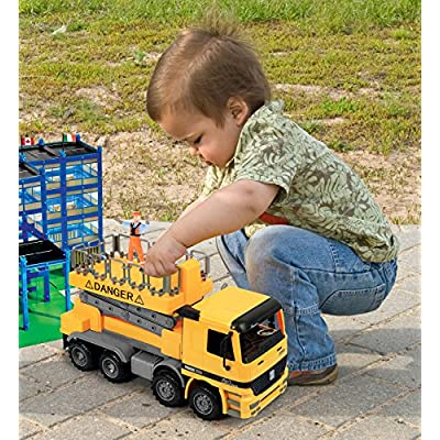 Click N' Play Friction Powered Jumbo Scaffold Bucket Lift Construction Toy Vehicle for Kids: Toys & Games