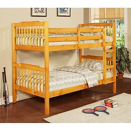 Amazon Com Elise Bunk Bed Honey Pine Kitchen Dining