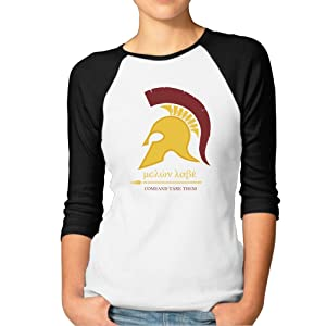 Womens Round Neck Helmet MOLON LABE Best 3/4 Sleeve Raglan Tee Shirts