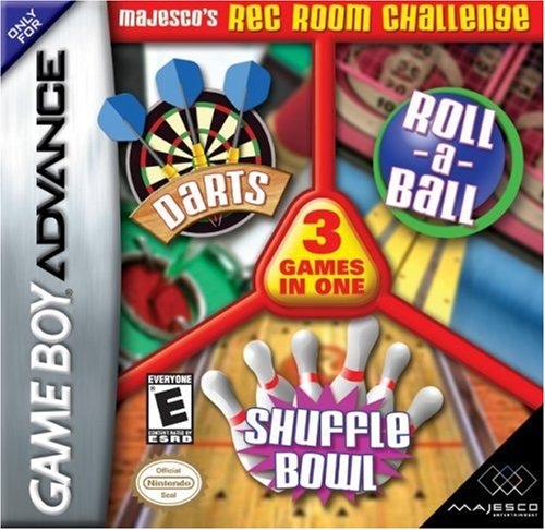 Majesco's Rec Room Challenge: Roll-a-Ball, Darts, Shuffle Bowling - Game Boy Advance