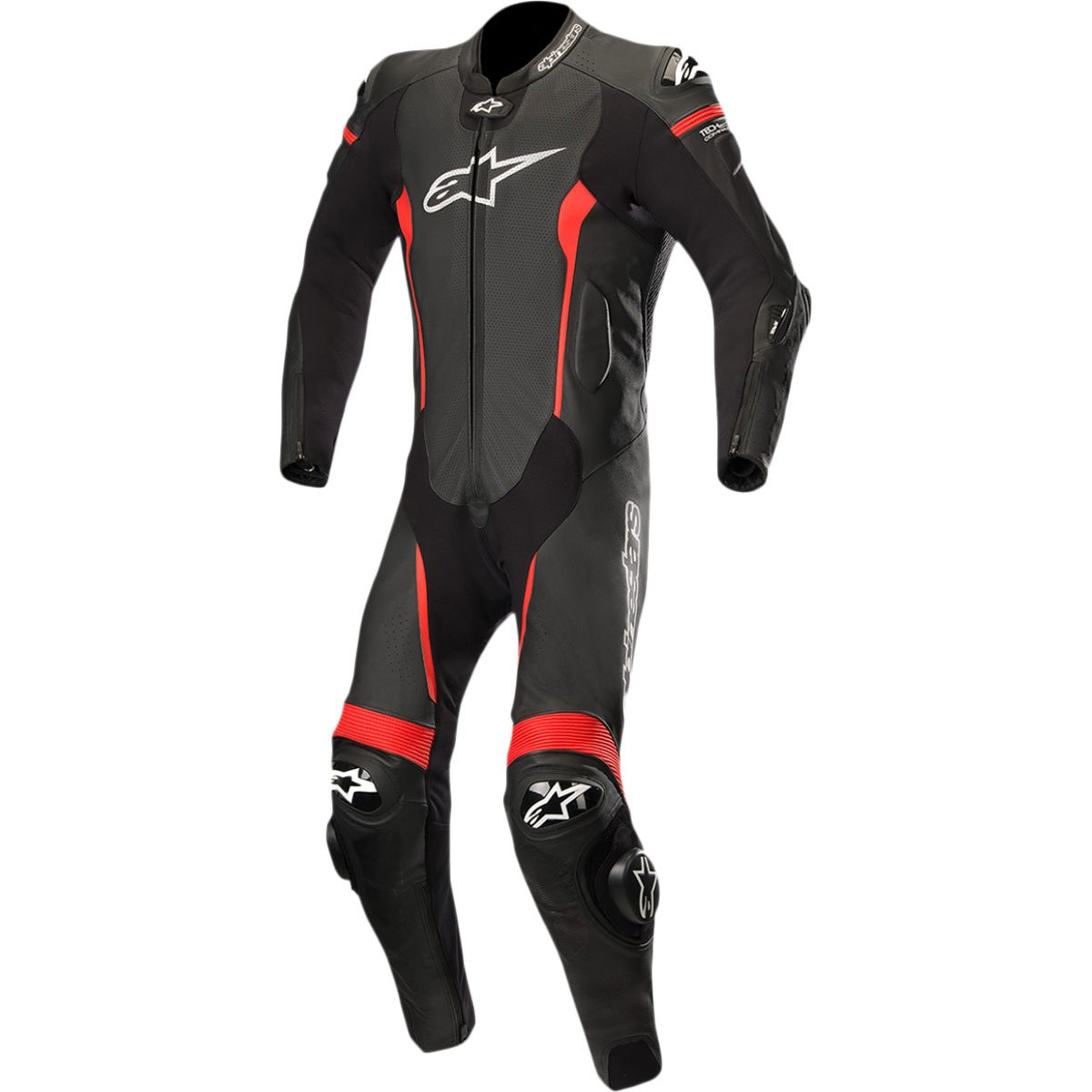 Alpinestars Missile Men's 1-Piece Street Race Suits - Black/Red / 56