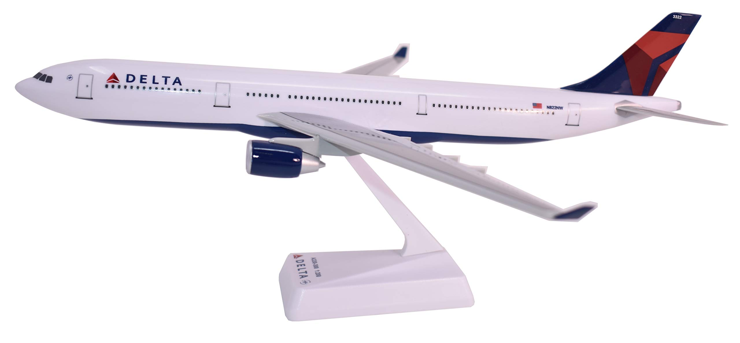 Flight Miniatures Delta (07-Cur) A330-300 Airplane Miniature Model Snap Fit 1:200 # AAB-33030H-011