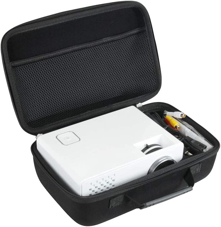 Hard Travel Case for DBPOWER Mini Projector Portable LED Projector by Hermitshell (RD-810)