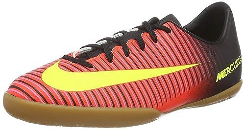 a83a9b361 Nike Jr MercurialX Vapor XI IC Grey Green Junior Indoor Court Soccer Soccer  Shoes - 12.5