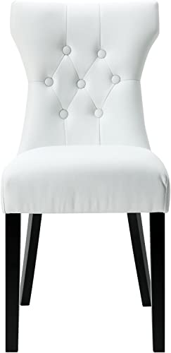 Modway Silhouette Modern Tufted Vegan Leather Upholstered Parsons Dining Chair