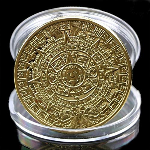 MarshLing US Plated Mayan Aztec Calendar Souvenir Commemorative Coin Collection Perfect Quality Gold
