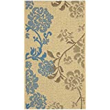 Safavieh Courtyard Collection CY4027B Natural Brown and Blue Indoor/Outdoor Area Rug (2'7″ x 5′) Review