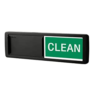 Nano Shield Dishwasher Magnet Clean Dirty Sign, 2019 New Design Decorative Dishwasheer Indicator Slidee Reminder with Sticky Tab Adhesion, Slide Signs Cool Kitchen Gadgets - Black