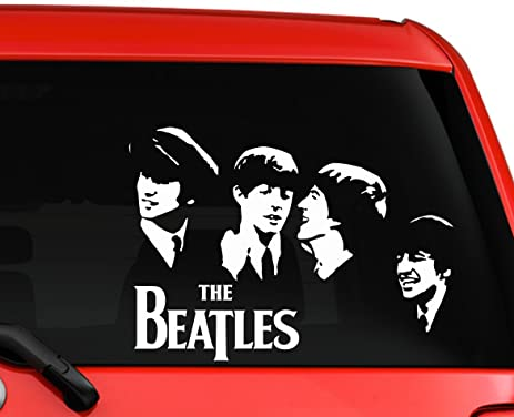 The beatles band members album cover picture fab four beautiful silhouette car truck laptop macbook window