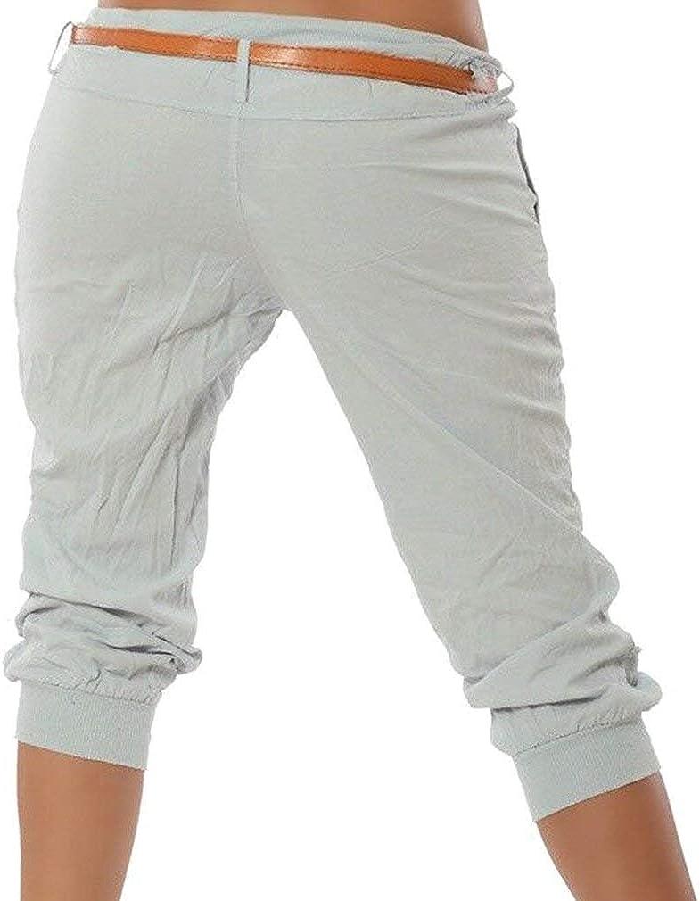 ShallGood Donna Casuale Pantaloncini Estivi Basic 3//4 Leggings Pinocchietto Sport Fitness Dance Capri Vintage Bermuda Pantaloni