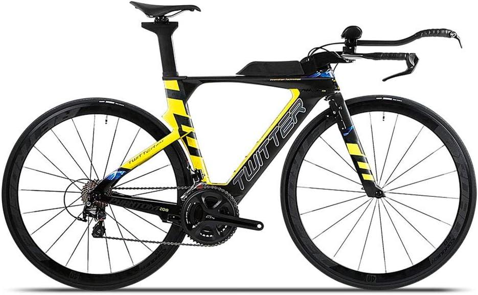 TBAN Bicicleta De Carretera TT Racing, Racing, 22 Velocidades, Fibra De Carbono Completa, Ciclismo De Carrera, Bicicleta Urbana,B,54CM