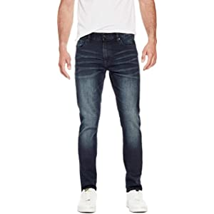 GUESS Factory Mens Delmar Slim Straight Jeans at Amazon ...