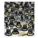 Beistle 88938-100 Silver Gold Super Deluxe Assortment for 100 People, Black/Silver/Gold
