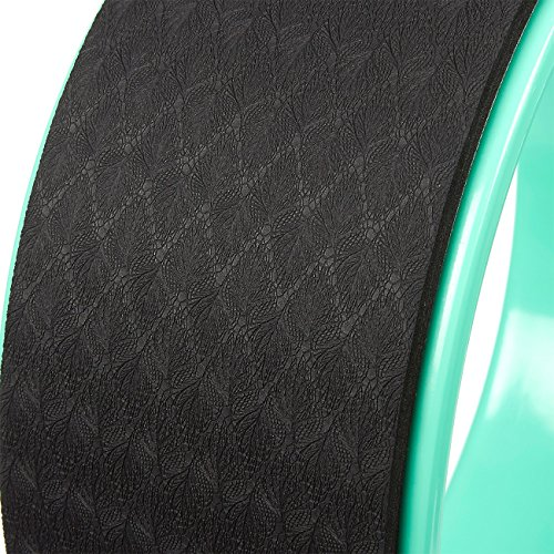 Yoga Wheel Thermoplastic Yoga Equipment For Stretching, Training Poses, Muscle Exercise for Yoga Beginners and Practitioners, Green and Black 13 x 5.1 inches