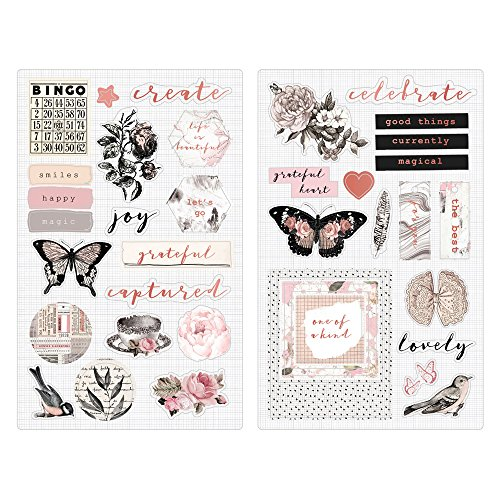 Prima Marketing Amelia Rose - Chipboard Stickers