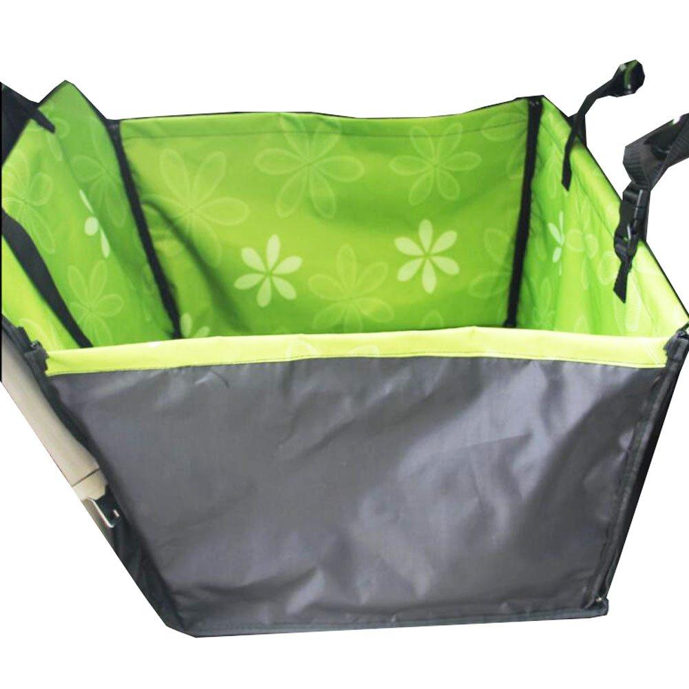 Black Temptation Thickening Waterproof Pet Car Seat Cover Pet Mat Rear Seat Mat- Green